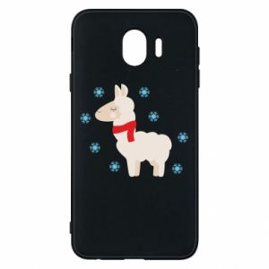 Phone case for Samsung J4 Llama in the snow