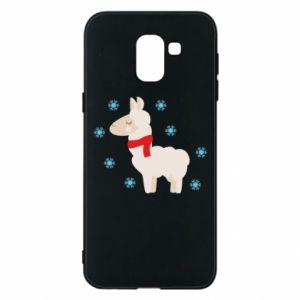 Phone case for Samsung J6 Llama in the snow
