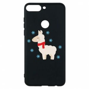 Phone case for Huawei Y7 Prime 2018 Llama in the snow