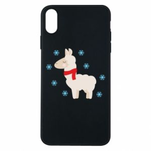 Phone case for iPhone Xs Max Llama in the snow