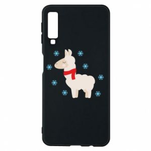 Phone case for Samsung A7 2018 Llama in the snow