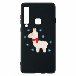 Phone case for Samsung A9 2018 Llama in the snow