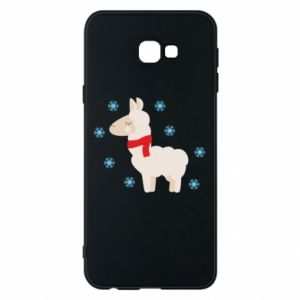 Phone case for Samsung J4 Plus 2018 Llama in the snow