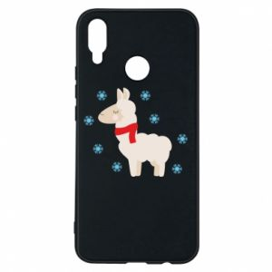 Phone case for Huawei P Smart Plus Llama in the snow
