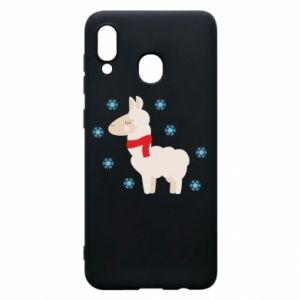 Phone case for Samsung A30 Llama in the snow