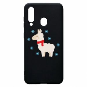 Phone case for Samsung A60 Llama in the snow