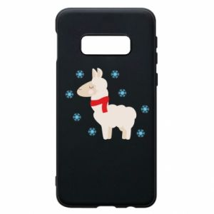 Phone case for Samsung S10e Llama in the snow