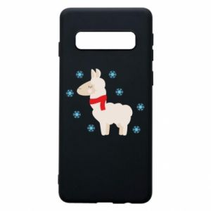 Phone case for Samsung S10 Llama in the snow
