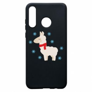 Phone case for Huawei P30 Lite Llama in the snow