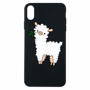 Phone case for iPhone Xs Max Lamb with a sprig - PrintSalon
