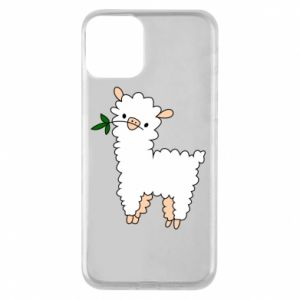 Phone case for iPhone 11 Lamb with a sprig - PrintSalon