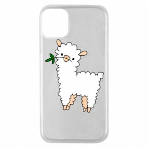 Phone case for iPhone 11 Pro Lamb with a sprig - PrintSalon