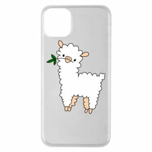 Phone case for iPhone 11 Pro Max Lamb with a sprig - PrintSalon