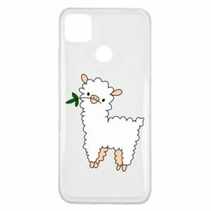 Etui na Xiaomi Redmi 9c Lamb with a sprig
