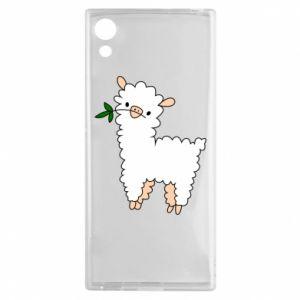 Etui na Sony Xperia XA1 Lamb with a sprig