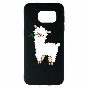 Etui na Samsung S7 EDGE Lamb with a sprig