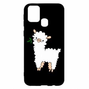 Etui na Samsung M31 Lamb with a sprig