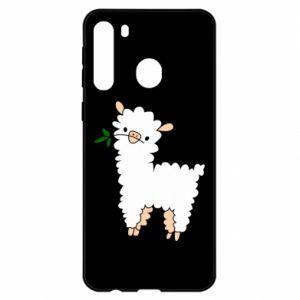 Etui na Samsung A21 Lamb with a sprig