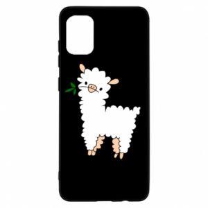 Etui na Samsung A31 Lamb with a sprig