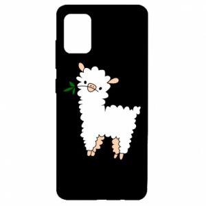 Etui na Samsung A51 Lamb with a sprig