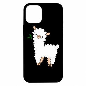 Etui na iPhone 12 Mini Lamb with a sprig