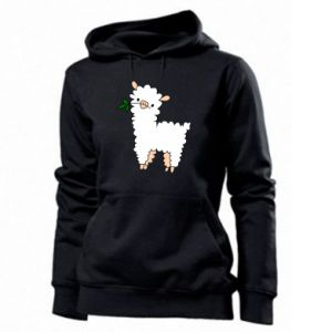 Women's hoodies Lamb with a sprig - PrintSalon