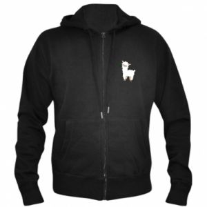 Men's zip up hoodie Lamb with a sprig - PrintSalon