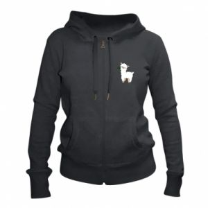 Women's zip up hoodies Lamb with a sprig - PrintSalon