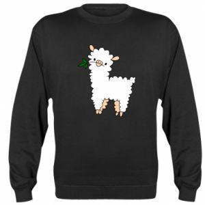 Sweatshirt Lamb with a sprig - PrintSalon