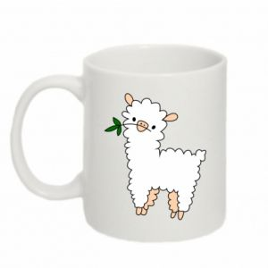 Mug 330ml Lamb with a sprig - PrintSalon