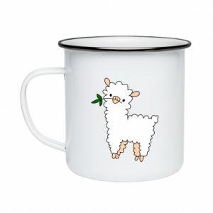 Kubek emaliowany Lamb with a sprig