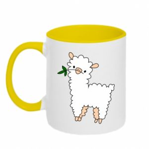 Two-toned mug Lamb with a sprig - PrintSalon