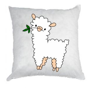Pillow Lamb with a sprig