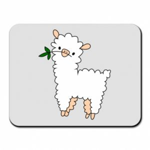 Mouse pad Lamb with a sprig - PrintSalon