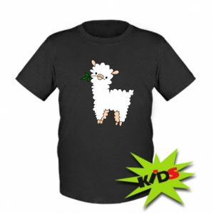 Kids T-shirt Lamb with a sprig - PrintSalon