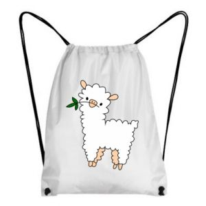 Backpack-bag Lamb with a sprig