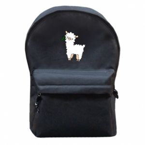 Backpack with front pocket Lamb with a sprig - PrintSalon