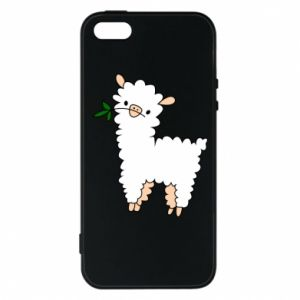 Phone case for iPhone 5/5S/SE Lamb with a sprig - PrintSalon