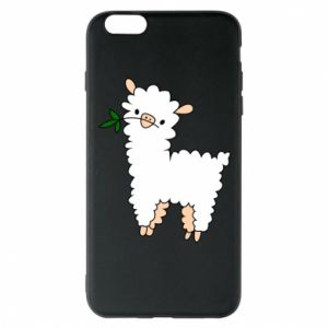 Phone case for iPhone 6 Plus/6S Plus Lamb with a sprig - PrintSalon