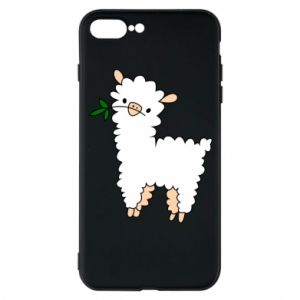 Phone case for iPhone 7 Plus Lamb with a sprig - PrintSalon