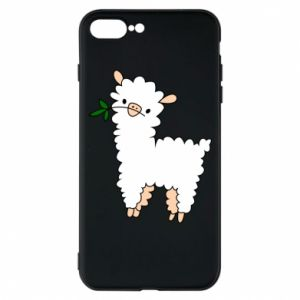 Phone case for iPhone 8 Plus Lamb with a sprig - PrintSalon