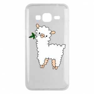 Phone case for Samsung J3 2016 Lamb with a sprig - PrintSalon