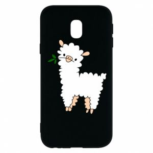 Phone case for Samsung J3 2017 Lamb with a sprig