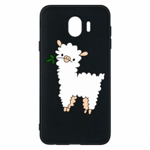 Phone case for Samsung J4 Lamb with a sprig - PrintSalon