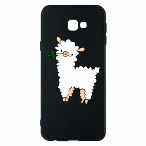 Phone case for Samsung J4 Plus 2018 Lamb with a sprig - PrintSalon
