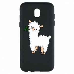Phone case for Samsung J5 2017 Lamb with a sprig - PrintSalon