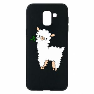 Phone case for Samsung J6 Lamb with a sprig - PrintSalon