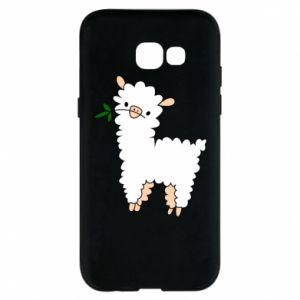 Phone case for Samsung A5 2017 Lamb with a sprig