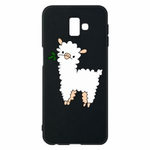 Phone case for Samsung J6 Plus 2018 Lamb with a sprig - PrintSalon