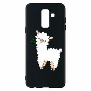 Phone case for Samsung A6+ 2018 Lamb with a sprig - PrintSalon